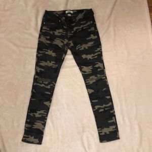Camo Denim with distressed knees